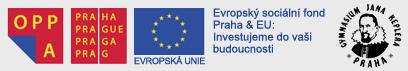 logo OPPA, logo Hlavního města Prahy, logo Evropské Unie. Evropský sociální fond, Praha a EU: investujeme do vaši budoucnosti. Logo gymnázia Jana Keplera
